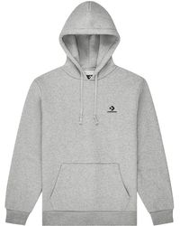 Converse Embroidered Pullover Hoodie Grey - Gris