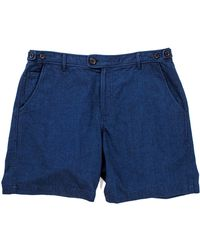 Corridor NYC - Indigo Cotton Shorts - Lyst