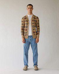 Corridor NYC Hand Crochet Pima Cardigan - Natural