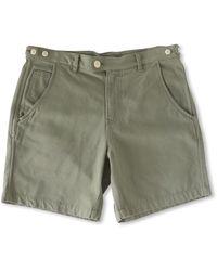 Corridor NYC Olive Oxford Canvas Shorts - Green