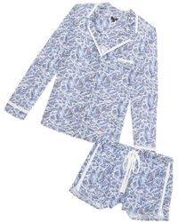 Cosabella - Bella Printed Long Sleeve Top & Boxer Pajama Set - Lyst