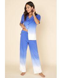 Cosabella Short Sleeve Top & Pant - Blue