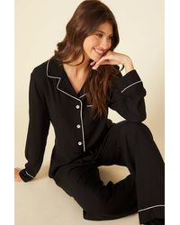Cosabella Relaxed Long Sleeve Top & Pant - Black