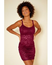 Cosabella Curvy Foxie Chemise - Red