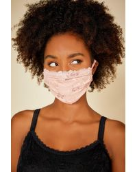 Cosabella Pleated Face Mask - Pink