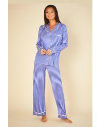 Cosabella Long Sleeve Top & Pant Pyjamas - Blue