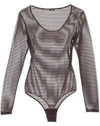 Cosabella - Bisou Texture Stripe Bodysuit - Lyst