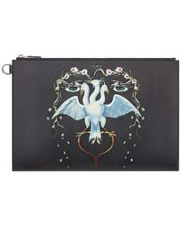 Givenchy Bird Printed Pouch In Coated Canvas - Multicolor