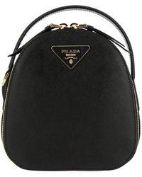 Prada Odette Mini Saffiano Leather Black Backpack