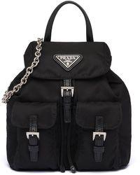Prada Nylon Mini Backpack - Black