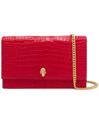 Alexander McQueen Skull Mini Bag - Red