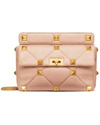 Valentino - Large Roman Stud The Shoulder Bag In Nappa With Chain - Lyst