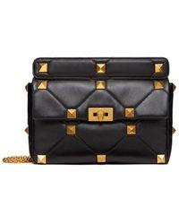 Valentino - Large Roman Stud The Shoulder Bag - Lyst
