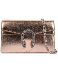 Gucci Dionysus Super Mini Bag In Rose Gold - Multicolour