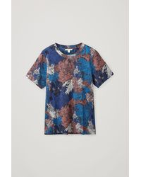 COS Organic Cotton Printed Pyjama T-shirt - Blue