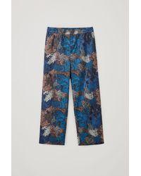 COS Cotton Printed Pyjama Trousers - Blue