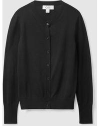 COS Slim-fit Silk Cardigan - Black