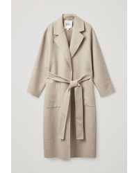 COS Belted Wrap Coat - Natural