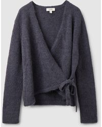 COS Wool Wrap Cardigan - Blue
