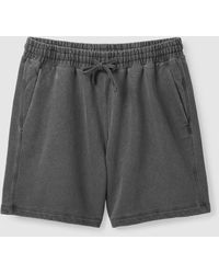 COS Relaxed-fit Drawstring Sweat Shorts - Black