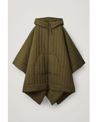 COS Padded Hooded Coat - Green