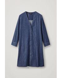 COS V-neck Denim Dress - Blue