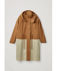 COS Hooded Cotton Parka - Natural