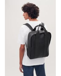 COS - Grained Leather Tote Backpack - Lyst
