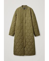 COS Quilted Coat - Green