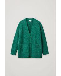 COS Brushed Alpaca-wool Mix Cardigan - Green