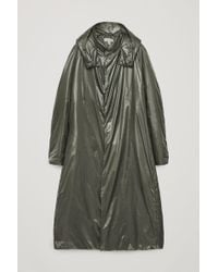 COS - Long Quilted Coat - Lyst