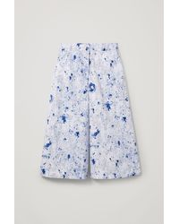 COS Printed Organic Cotton Culottes - Blue