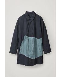 COS Lightweight Cotton Mac - Blue