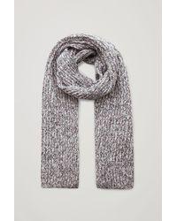 COS Mouline-knit Wool-cotton Scarf - Black