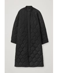 COS Quilted Coat - Black