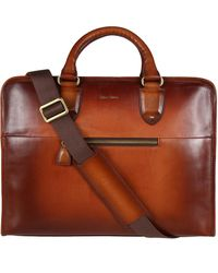 Oliver Sweeney Hereford Leather Briefcase - Brown