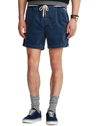 Polo Ralph Lauren 6 inch Polo Prepster Corduroy Shorts - Blau
