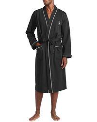 Polo Ralph Lauren Dressing Gown Lounge Robe - Noir