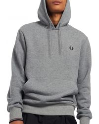 Fred Perry Sweat Tipped Hooded - Gris