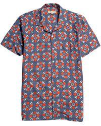 Far Afield T-Shirt a Manica Corta Selleck - Blu