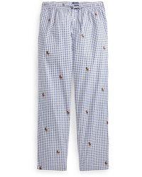 Polo Ralph Lauren Tenues de Nuit Cotton Twill Pajama Pant - Bleu