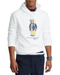 Polo Ralph Lauren Marina Polo Bear Fleece Kapuzenpulli - Weiß