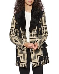 Pendleton Wahkeena Shearling Collar Jacket - Black
