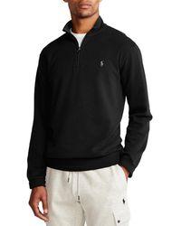 Polo Ralph Lauren Luxury Jersey Quarter Zip Pullover - Schwarz