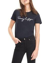 Tommy Hilfiger Heritage Crew Neck Graphic Tee T-Shirt - Noir
