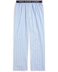 Polo Ralph Lauren Cotton Twill Pajama Pant Nachtwäsche - Blau