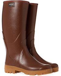 Aigle Chambord Pro 2 Wellington Boots - Brown