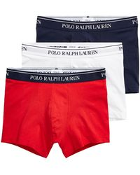 Polo Ralph Lauren Caleçons 3 Pack Trunk - Rouge