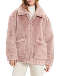 UGG Kianna Faux Fur Jacket - Pink