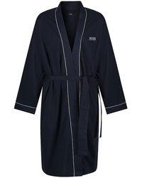 BOSS by HUGO BOSS Dressing Gown Contrast Kimono - Bleu